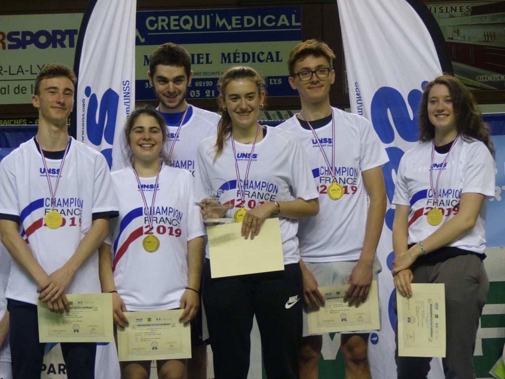 Championne de France UNSS !